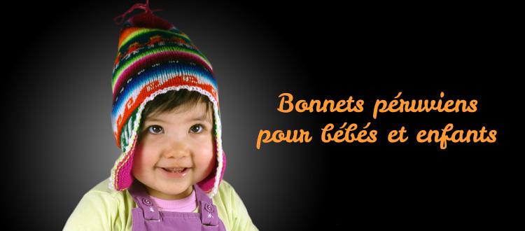 Berühmt bonnet péruvien bébé - Bonnet péruvien ZL08