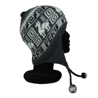 Bonnet péruvien gris foncé