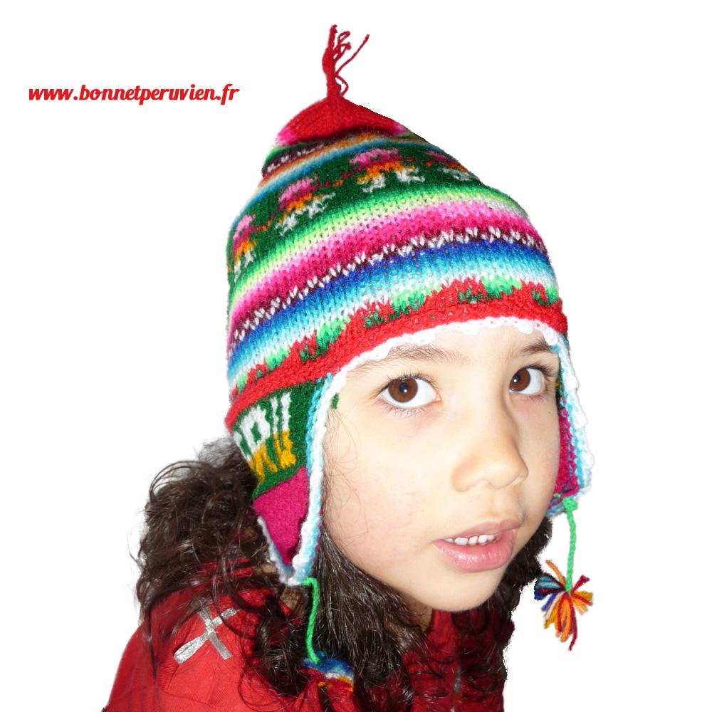 Top bonnet peruvien, vente en ligne de bonnet du pérou en laine d'alpaga UC88