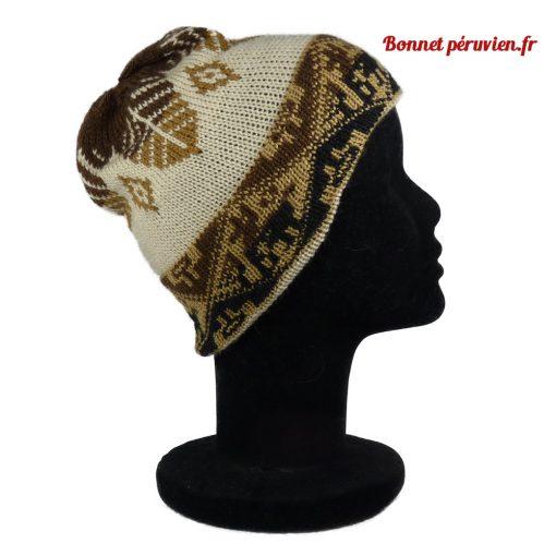 Bonnet péruvien marron clair