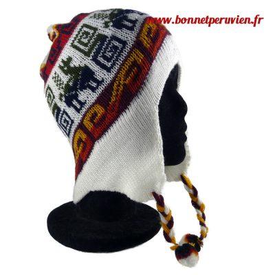 Bonnet péruvien crème