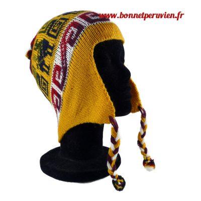 Bonnet péruvien jaune
